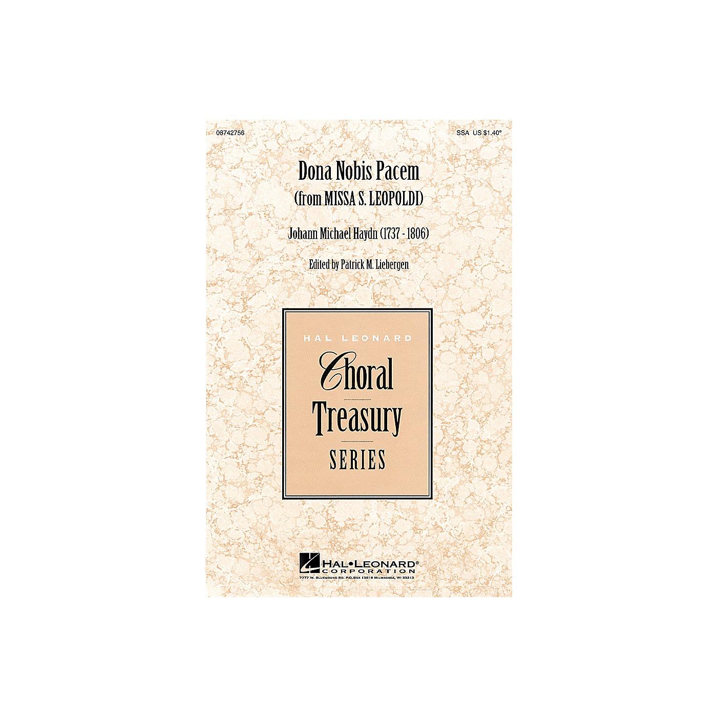 Hal Leonard Dona Nobis Pacem (from Missa S. Leopoldi) SSA arranged by Patrick M. Liebergen thumbnail