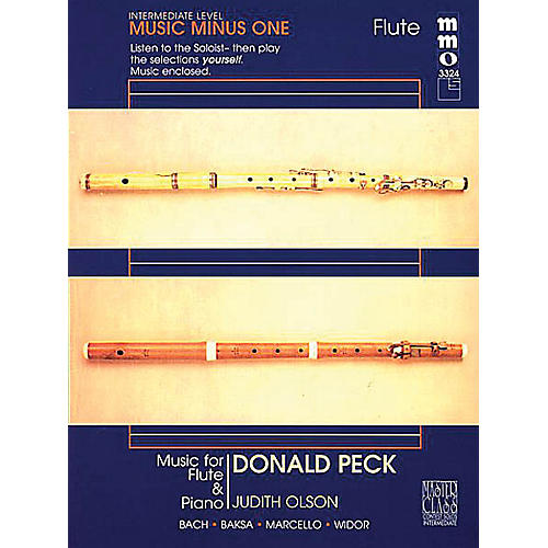 Music Minus One Donald Peck - Intermediate Flute Solos Volume 2 Music Minus One Series Softcover with CD by Donald Peck thumbnail