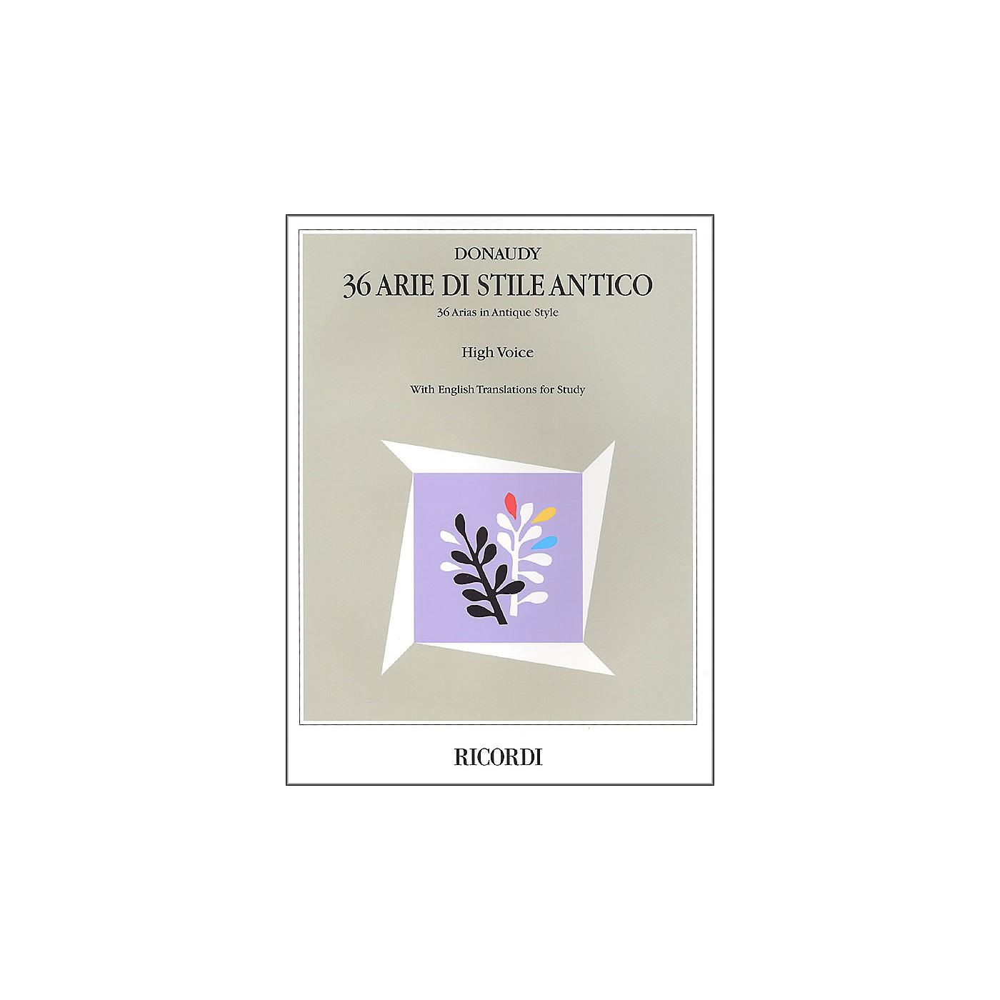Hal Leonard Donaudy:  36 Arie Di Stile Antico for High Voice thumbnail