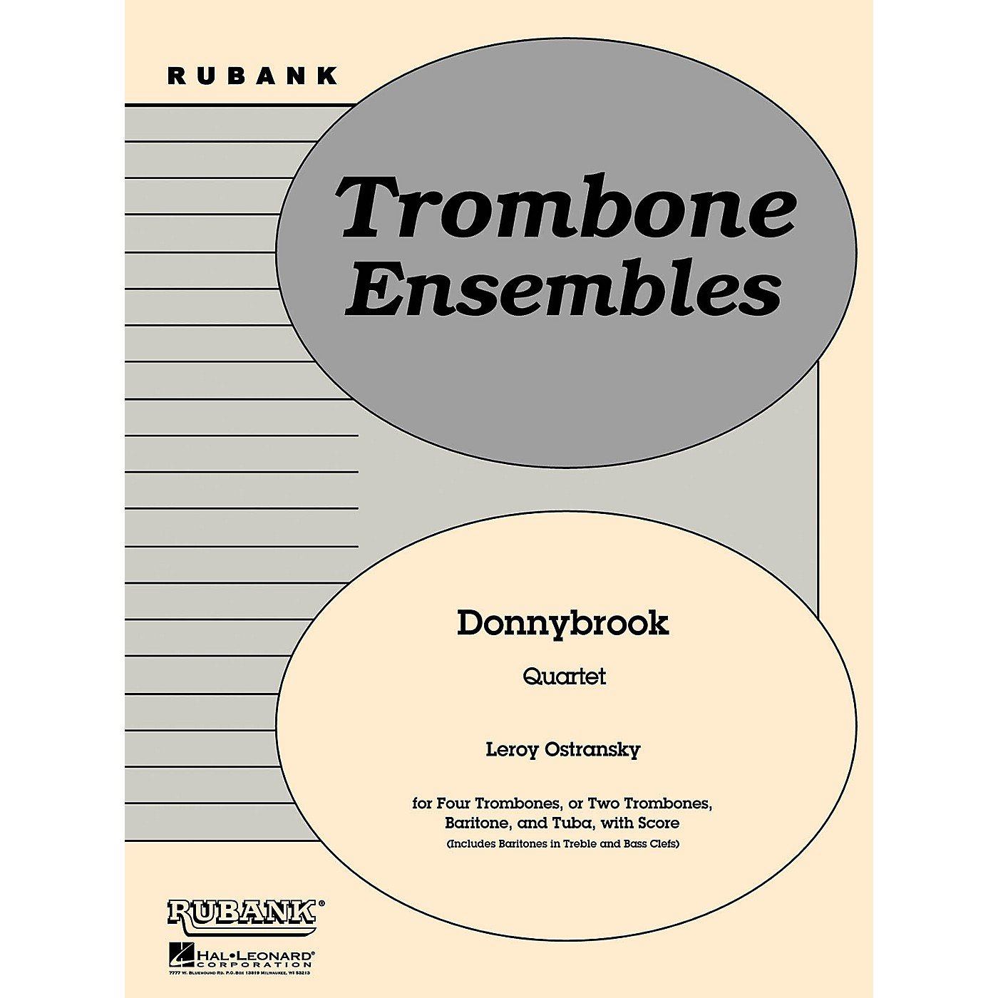 Rubank Publications Donnybrook (Trombone or Brass Quartet - Grade 2) Rubank Solo/Ensemble Sheet Series thumbnail
