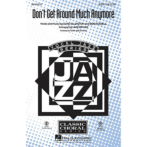 Hal Leonard Don't Get Around Much Anymore SAB Arranged by Mark Brymer thumbnail
