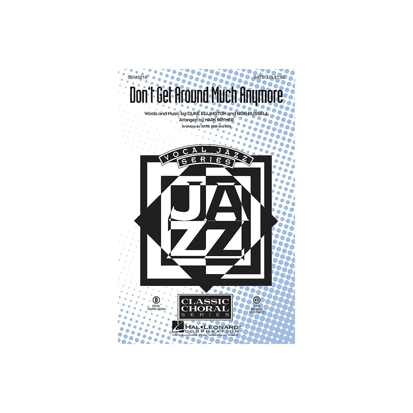 Hal Leonard Don't Get Around Much Anymore SSA Arranged by Mark Brymer thumbnail
