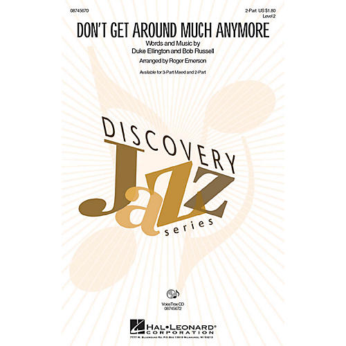 Hal Leonard Don't Get Around Much Anymore VoiceTrax CD Arranged by Roger Emerson thumbnail