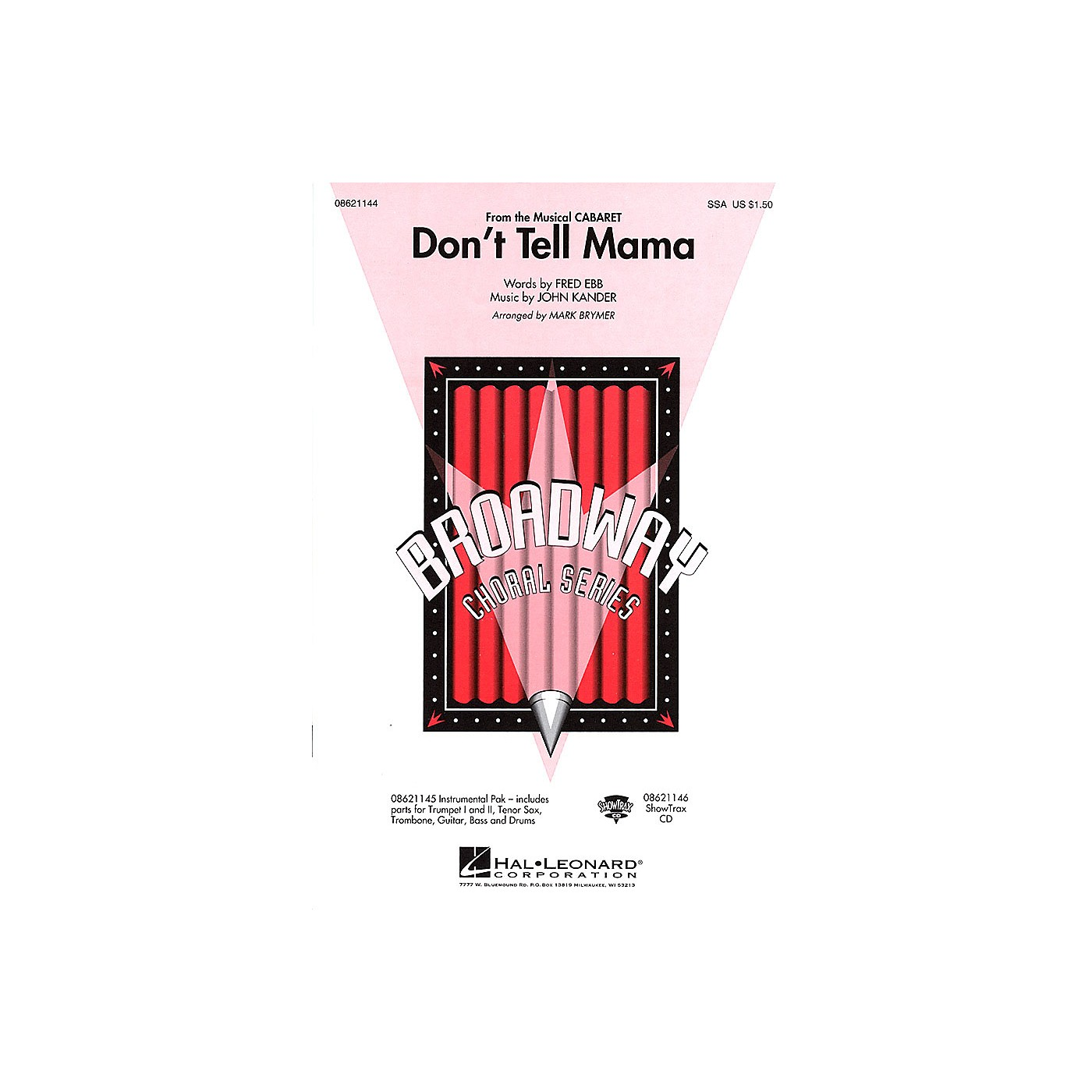 Hal Leonard Don't Tell Mama (from Cabaret) Combo Parts Arranged by Mark Brymer thumbnail