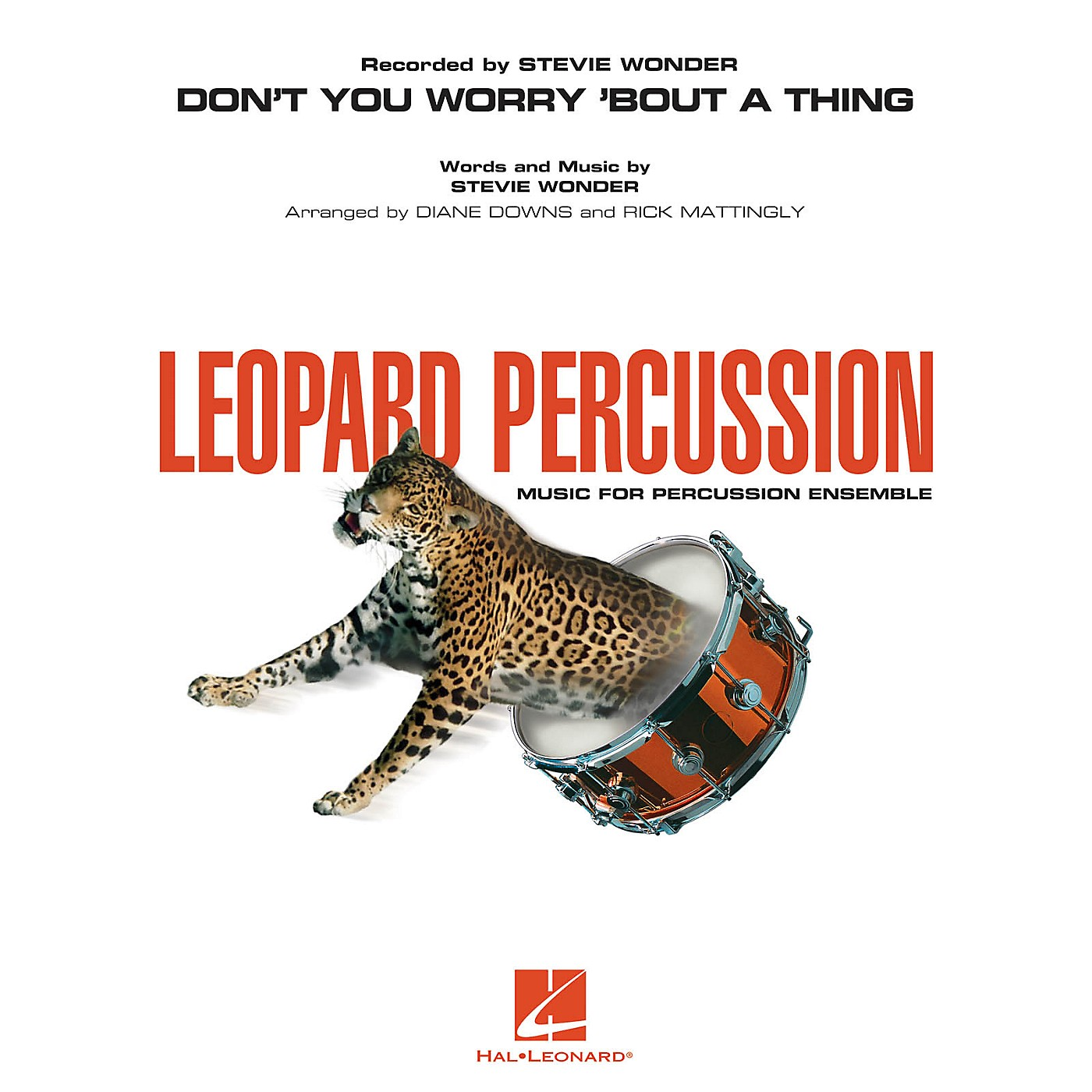Hal Leonard Don't You Worry 'Bout a Thing Concert Band Level 3 by Stevie Wonder Arranged by Diane Downs thumbnail