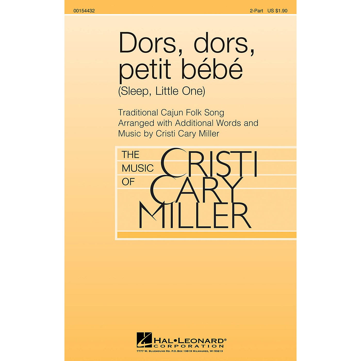 Hal Leonard Dors, dors, petit bébé (Sleep, Little One) 2-Part arranged by Cristi Cary Miller thumbnail