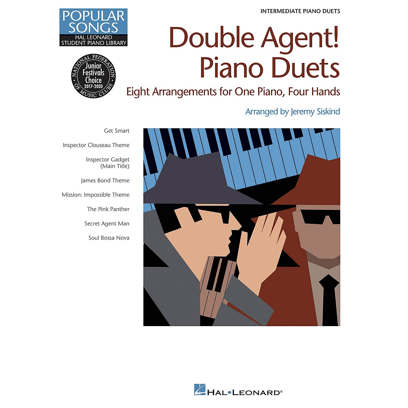 Hal Leonard Double Agent! Piano Duets Piano Library Series Book by Various (Level Inter) thumbnail