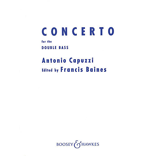 Boosey and Hawkes Double Bass Concerto in F Series Composed by Antonio Capuzzi thumbnail