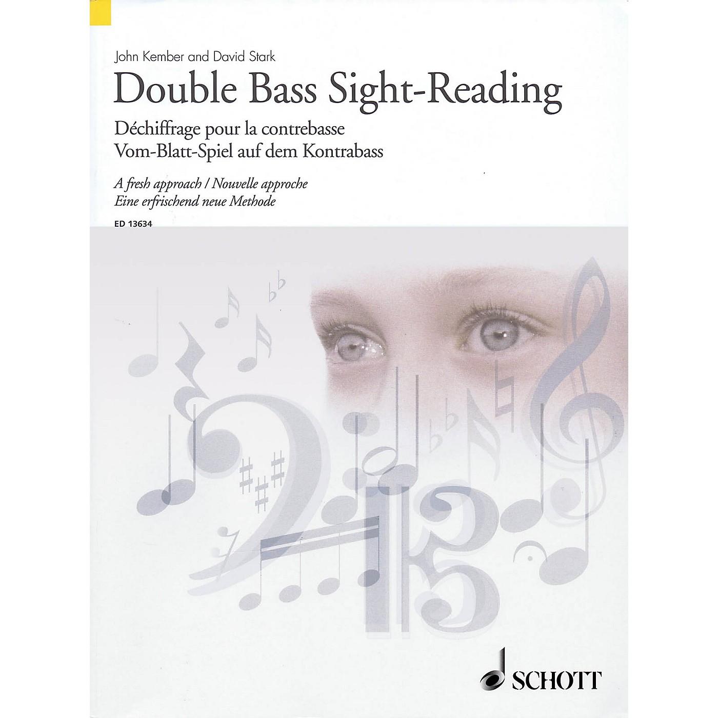 Schott Double Bass Sight-Reading - A Fresh Approach String Series Softcover Written by John Kember thumbnail