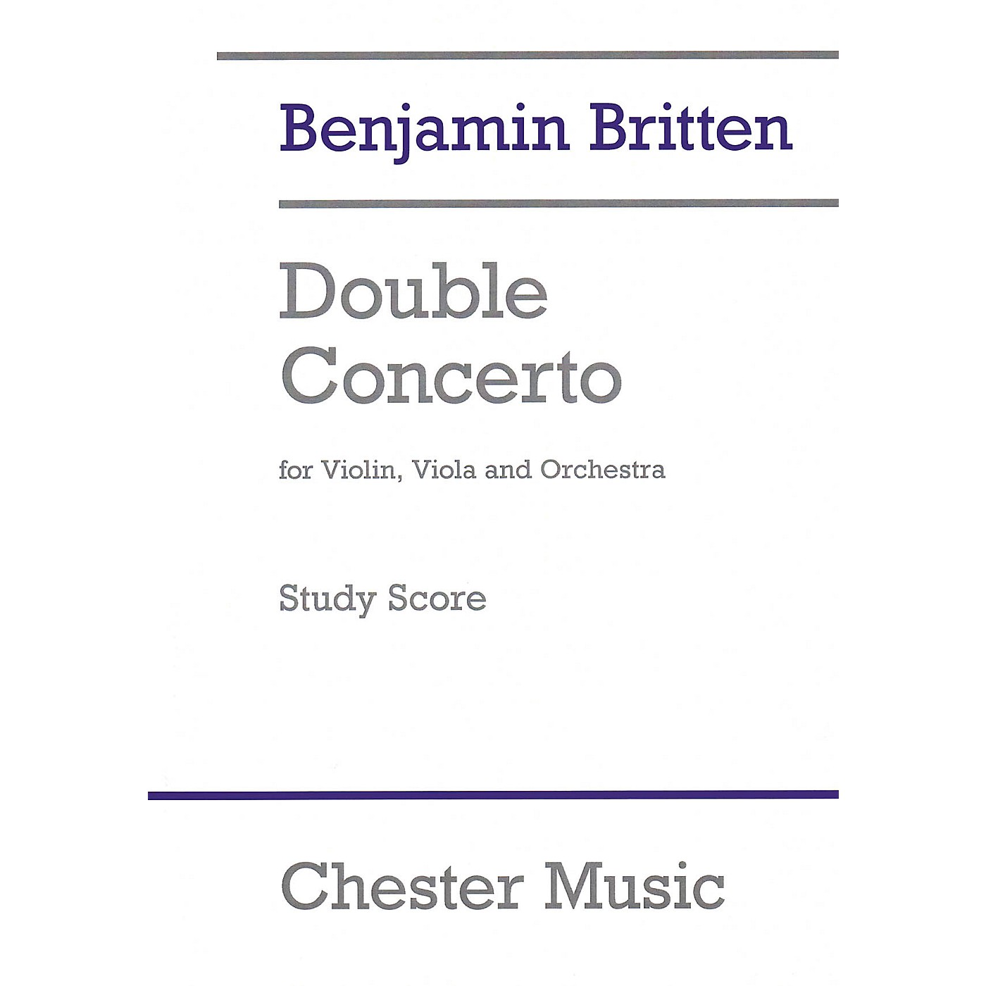 Chester Music Double Concerto Music Sales America Softcover Composed by Benjamin Britten Edited by Colin Matthews thumbnail