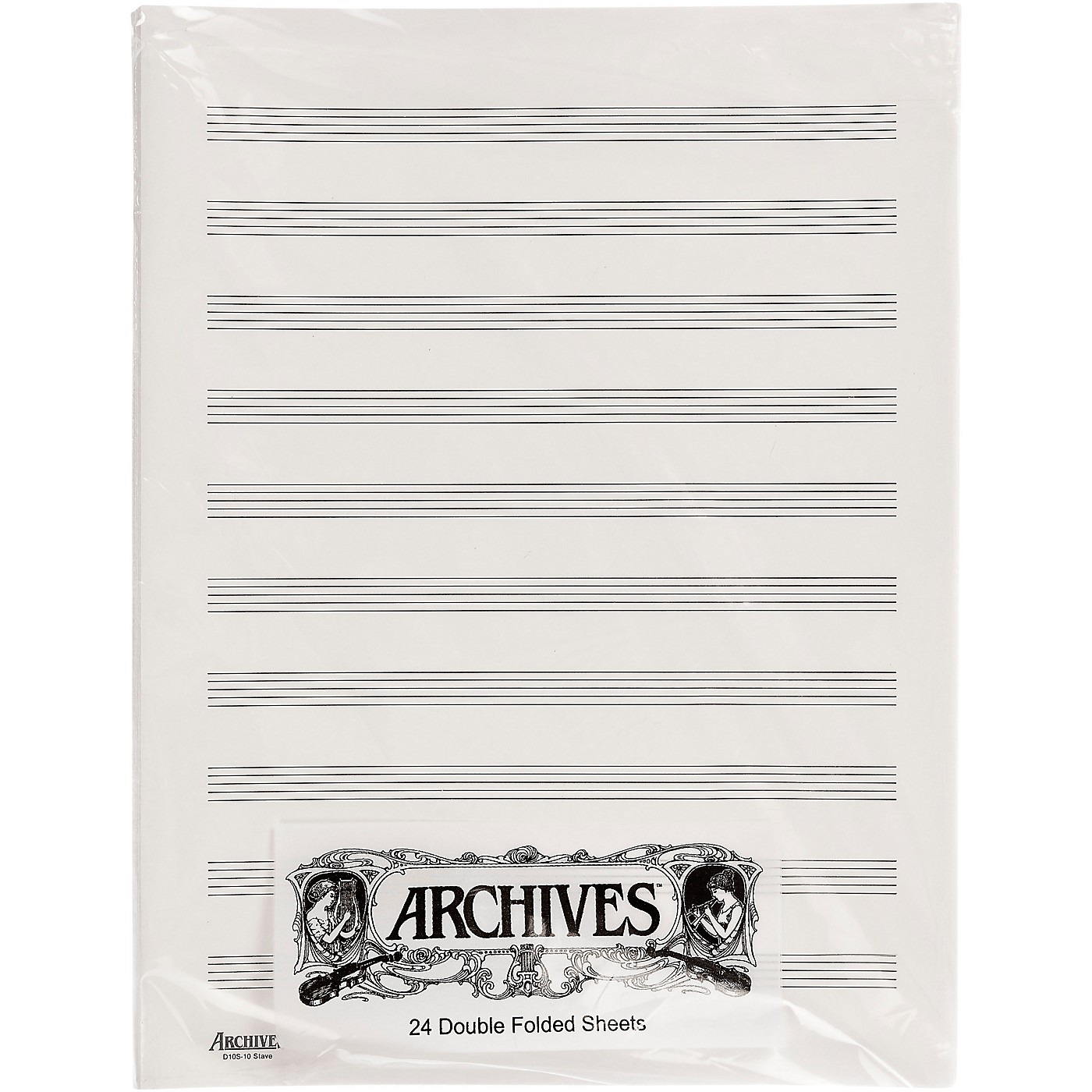 Archives Double Folded Manuscript Paper 10 Stave thumbnail
