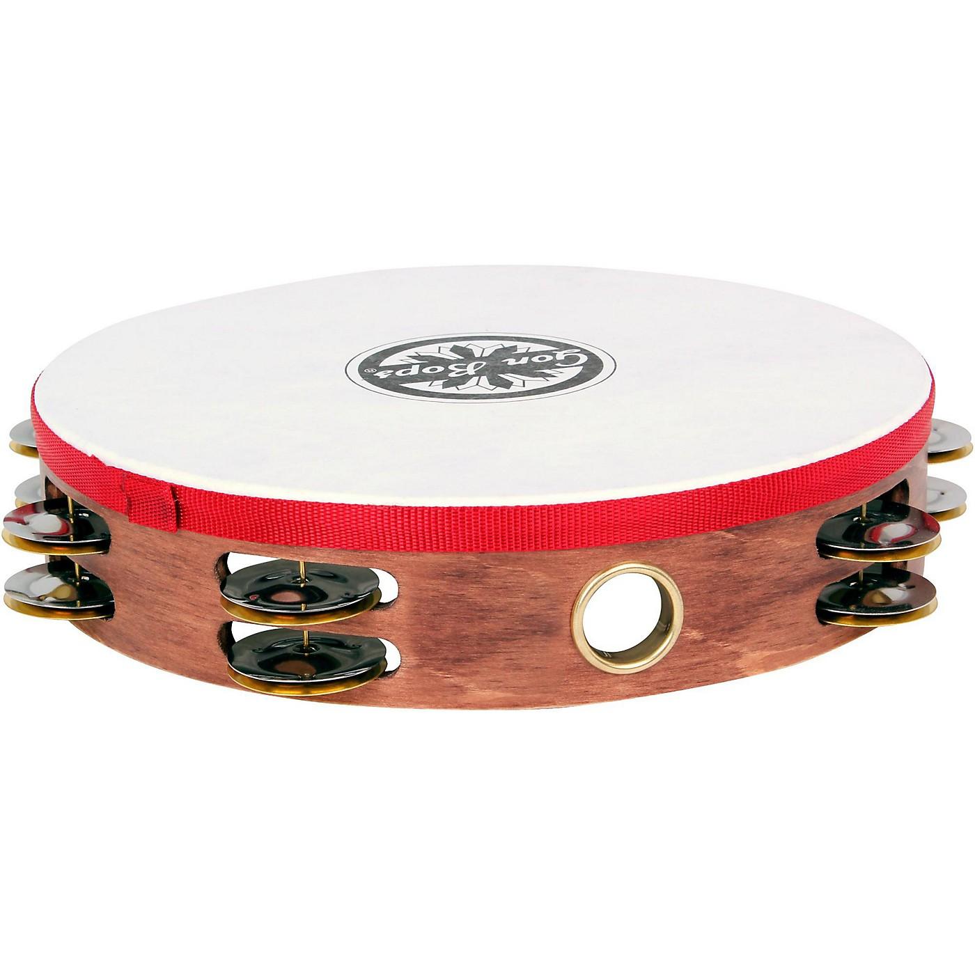 Gon Bops Double Row Wooden Tambourine w/Head thumbnail