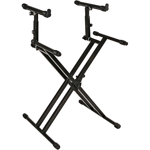 Quik-Lok Double-Tier Double-Braced Keyboard Stand thumbnail