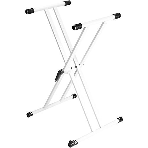 Gravity Stands Double X-Braced Keyboard Stand - White thumbnail
