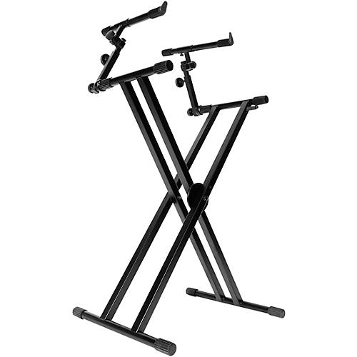 On-Stage Double-X Ergo Lok Keyboard Stand with 2nd Tier thumbnail