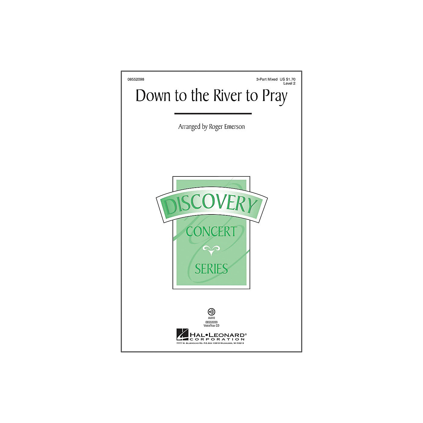 Hal Leonard Down To The River To Pray 3-Part Mixed thumbnail