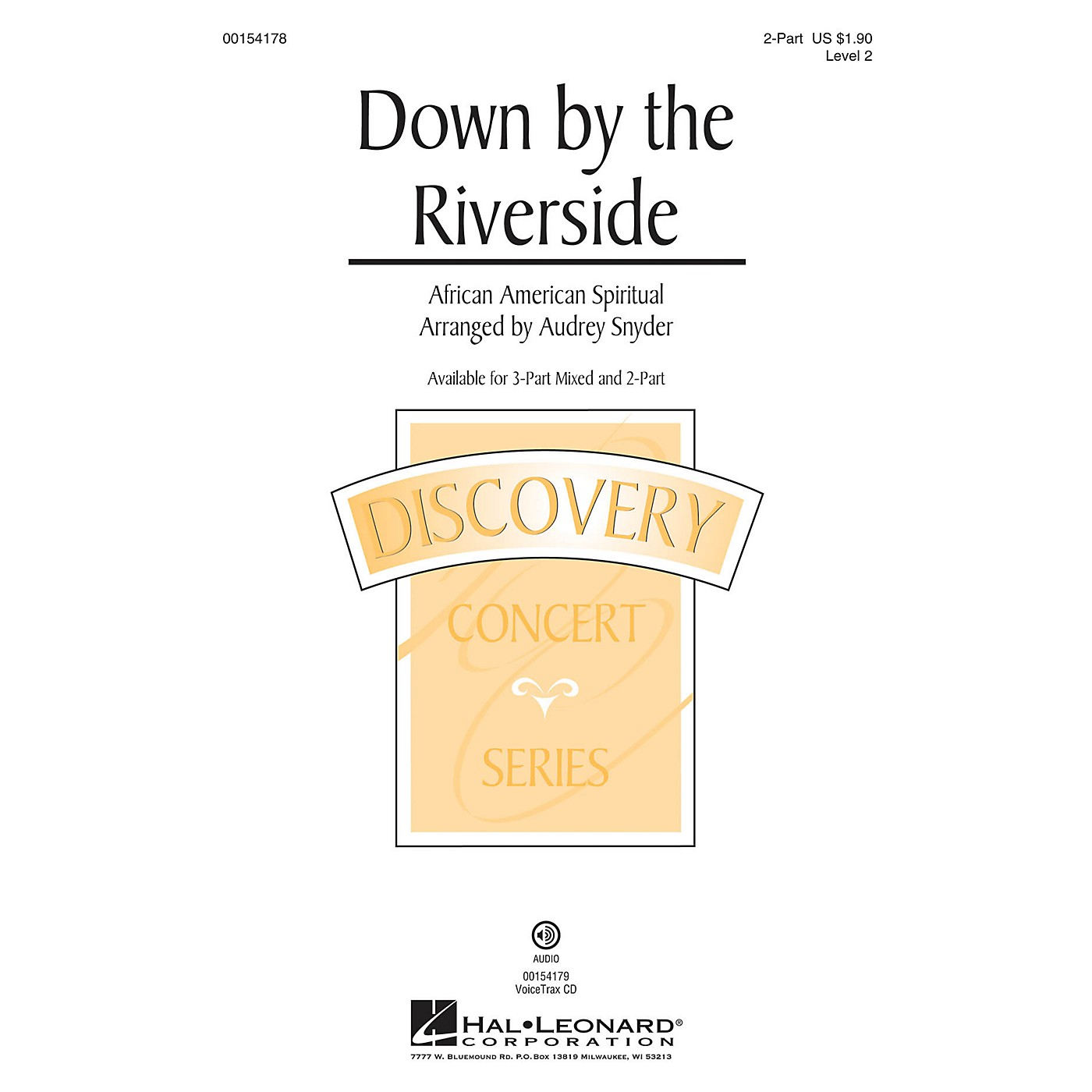 Hal Leonard Down by the Riverside 2-Part arranged by Audrey Snyder thumbnail