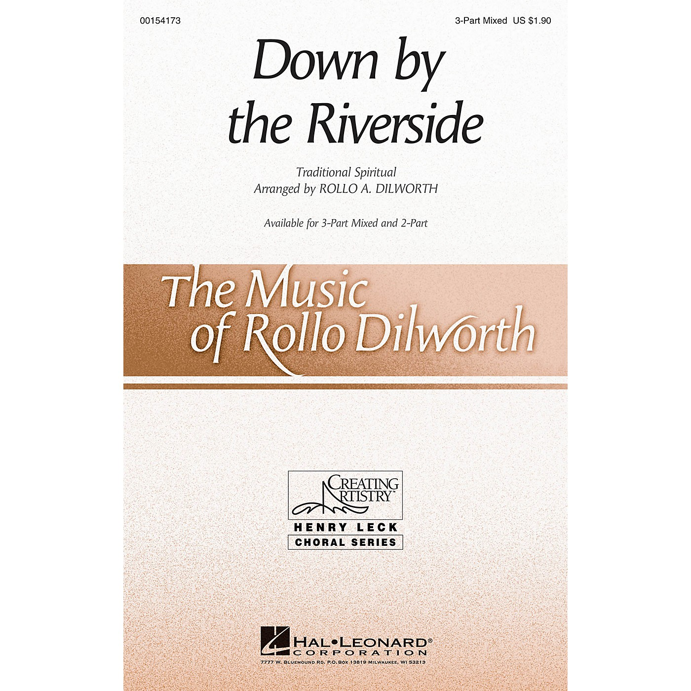 Hal Leonard Down by the Riverside 3-Part Mixed arranged by Rollo Dilworth thumbnail