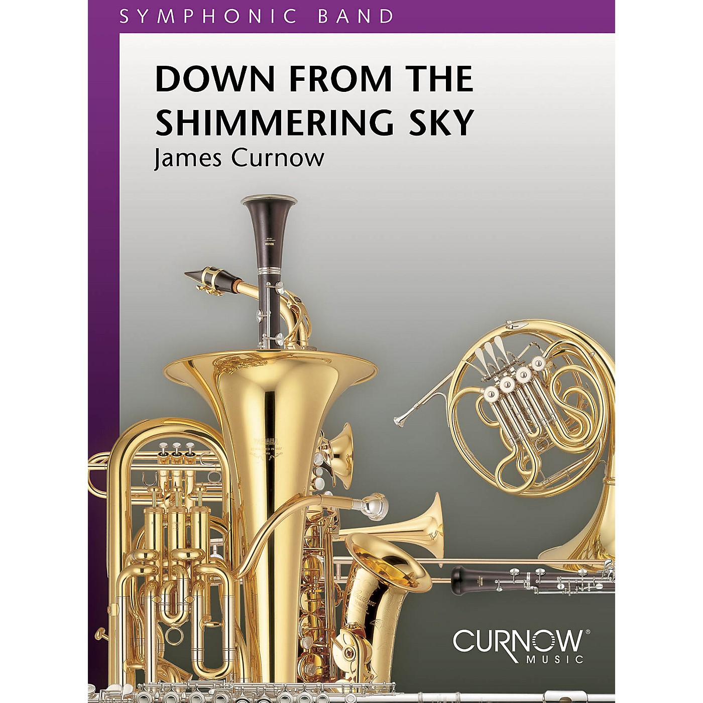 Curnow Music Down from the Shimmering Sky (Grade 5 - Score Only) Concert Band Level 5 Composed by James Curnow thumbnail