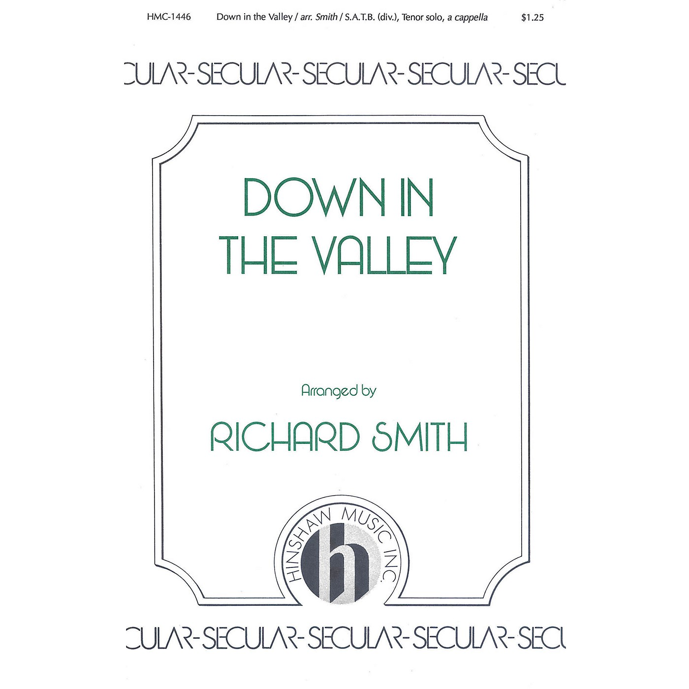 Hinshaw Music Down in the Valley SSAATTBB arranged by Richard Smith thumbnail