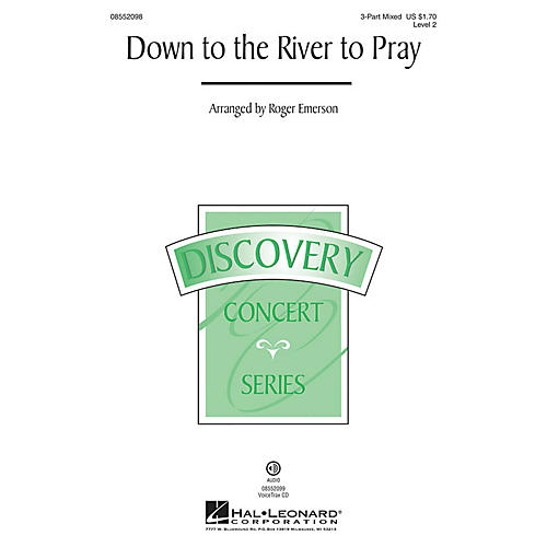 Hal Leonard Down to the River to Pray (Discovery Level 2) VoiceTrax CD Arranged by Roger Emerson thumbnail