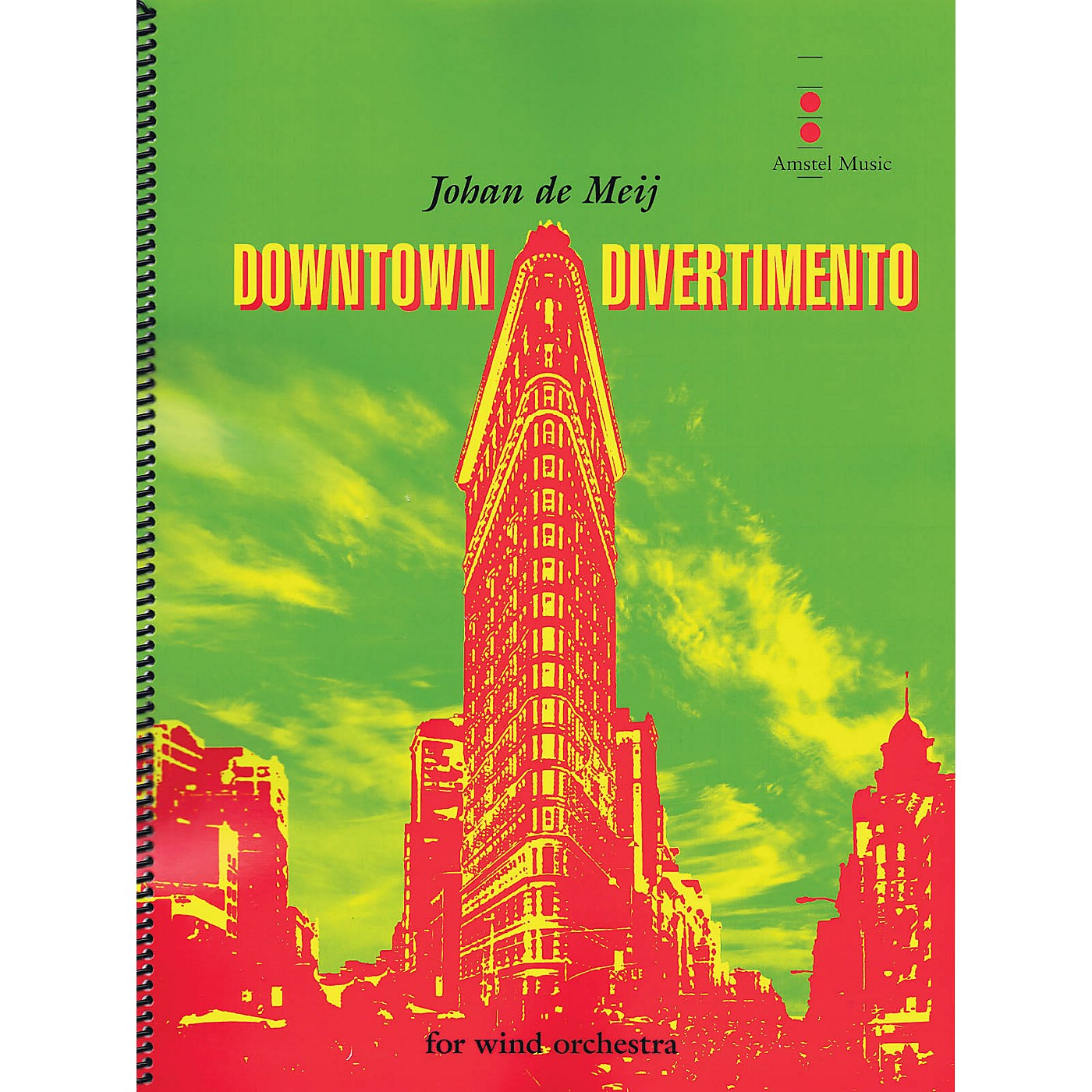 Amstel Music Downtown Divertimento Concert Band Level 3 Composed by Johan de Meij thumbnail