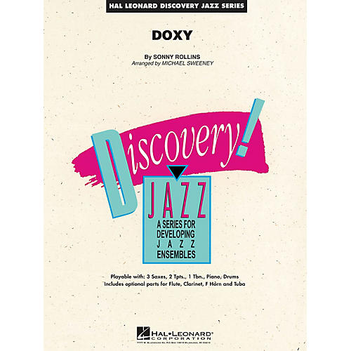 Hal Leonard Doxy Jazz Band Level 1.5 by Sonny Rollins Arranged by Michael Sweeney thumbnail
