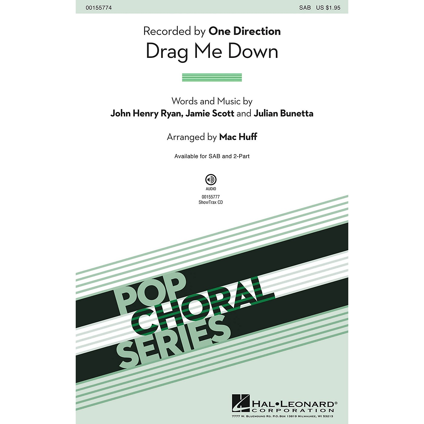 Hal Leonard Drag Me Down SAB by One Direction arranged by Mac Huff thumbnail