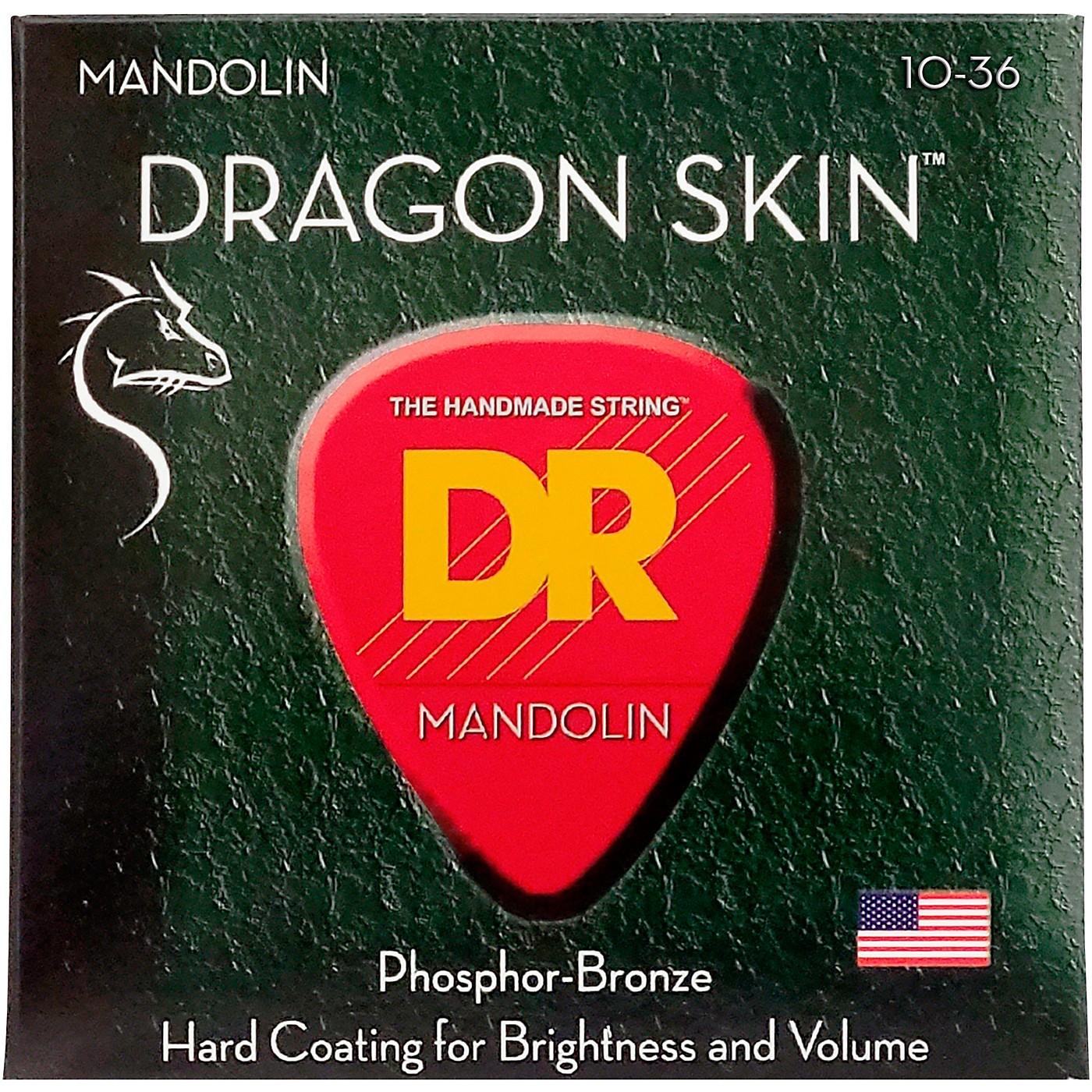 DR Strings Dragon Skin Clear Coated Mandolin Strings (10-14-24-36) thumbnail