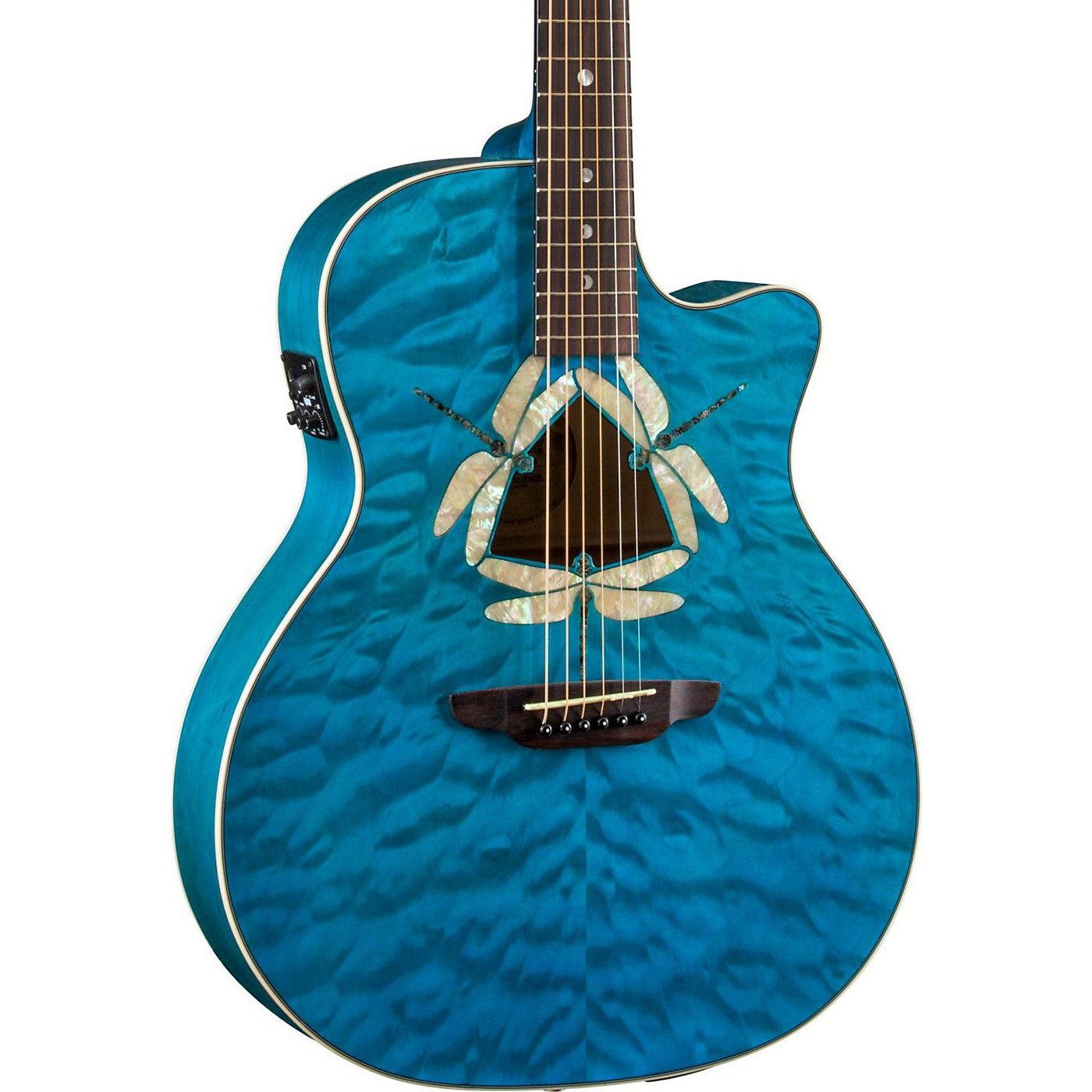 Luna Guitars Dragonfky Quited Maple Acoustic-Electric Guitar thumbnail