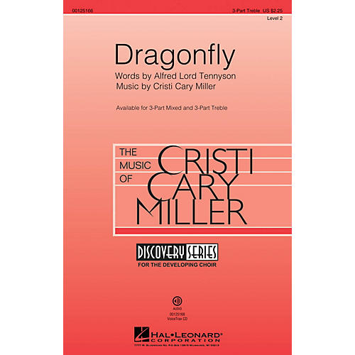 Hal Leonard Dragonfly (Discovery Level 2) 3 Part Treble composed by Cristi Cary Miller thumbnail