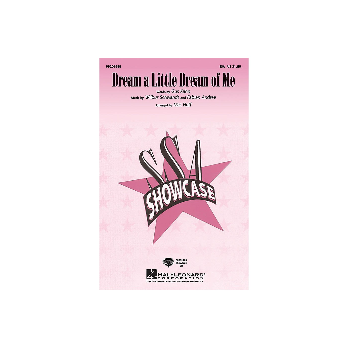 Hal Leonard Dream a Little Dream of Me ShowTrax CD Arranged by Mac Huff thumbnail
