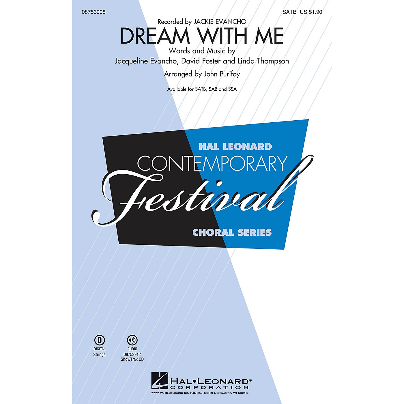 Hal Leonard Dream with Me SSA by Jackie Evancho Arranged by John Purifoy thumbnail