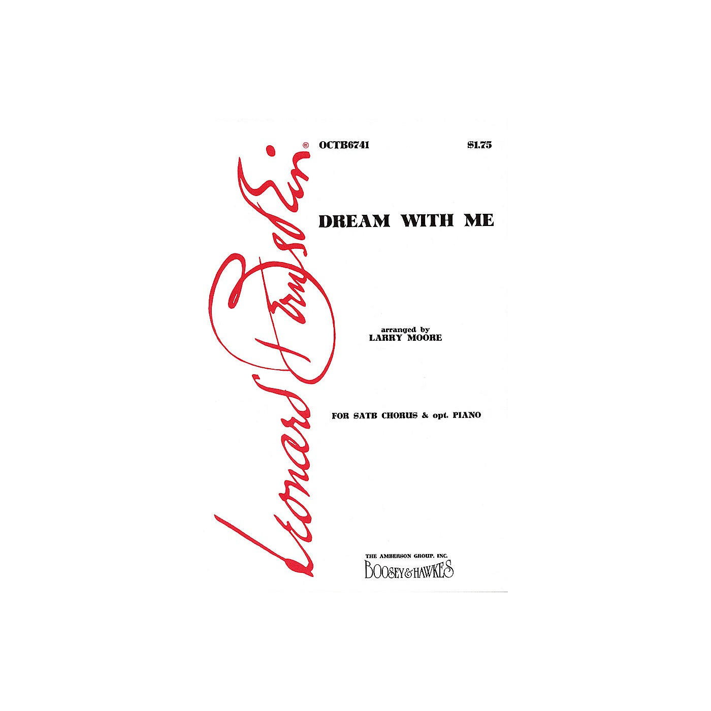Hal Leonard Dream with Me (from Peter Pan) (SATB) SATB Arranged by Larry Moore thumbnail