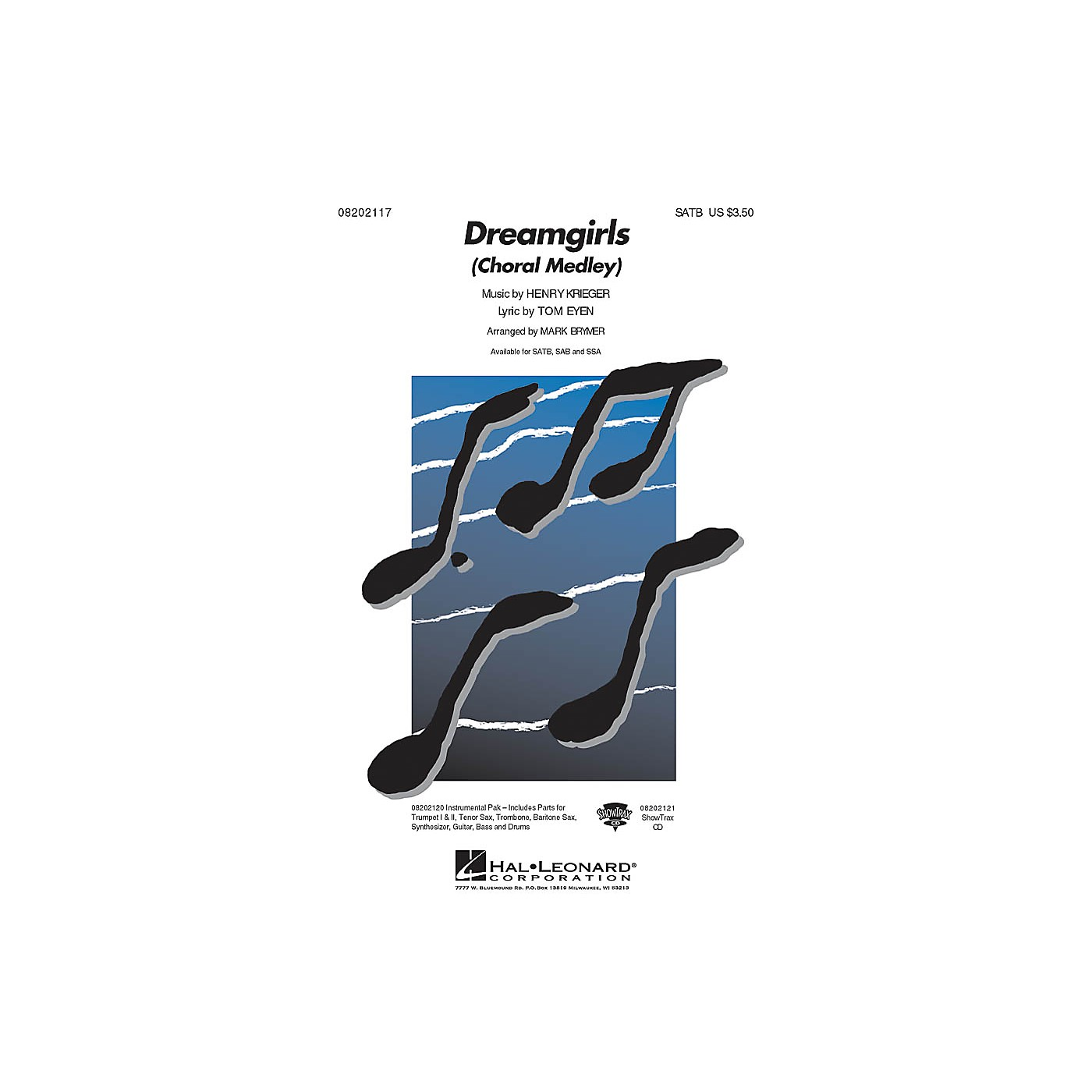 Hal Leonard Dreamgirls (Choral Medley) ShowTrax CD Arranged by Mark Brymer thumbnail