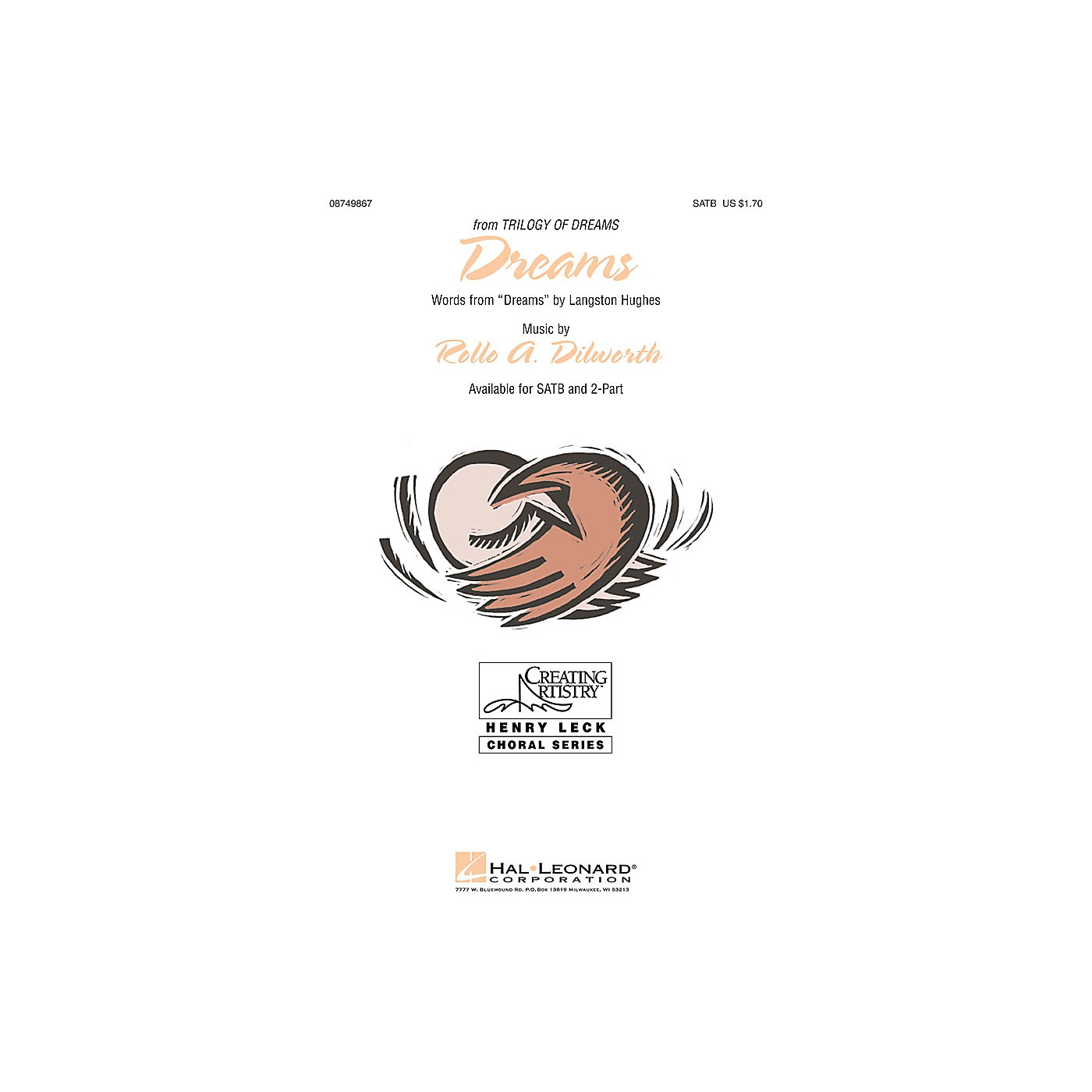 Hal Leonard Dreams (from Trilogy of Dreams) SATB composed by Rollo Dilworth thumbnail