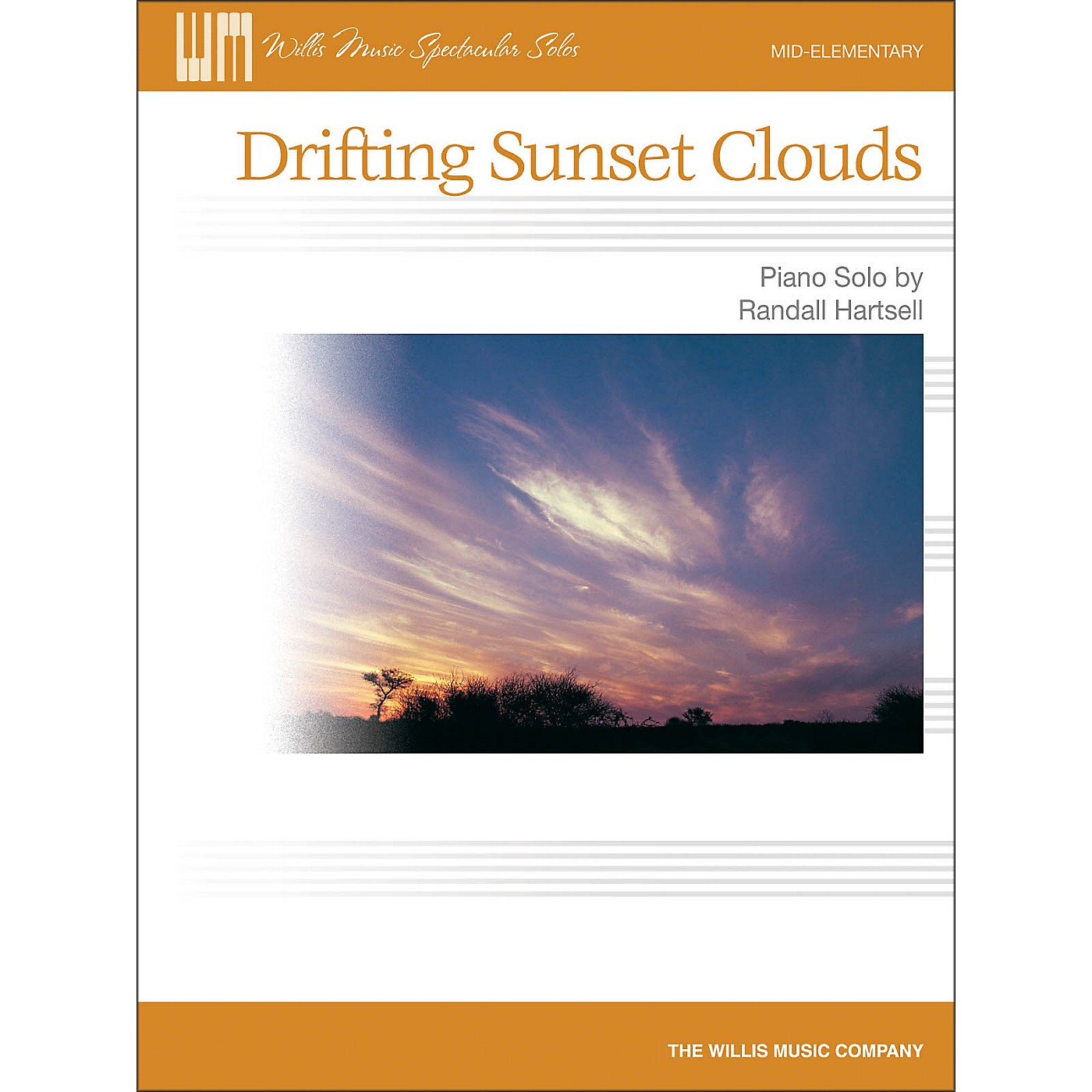 Willis Music Drifting Sunset Clouds - Later Elementary Piano Solo Sheet thumbnail