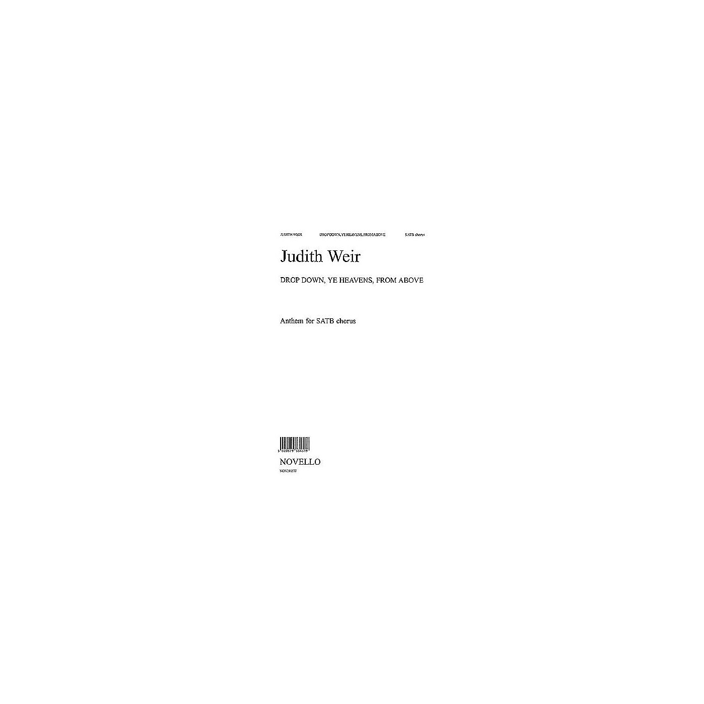 Novello Drop Down, Ye Heavens, from Above SATB Composed by Judith Weir thumbnail