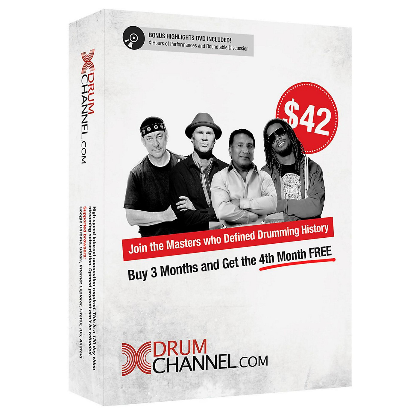 The Drum Channel Drum Channel for Drummers 3 Month Subscription with Extra Month Free! thumbnail