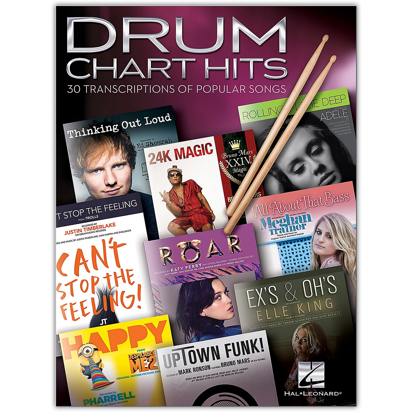 Hal Leonard Drum Chart Hits - 30 Transcriptions of Popular Songs thumbnail