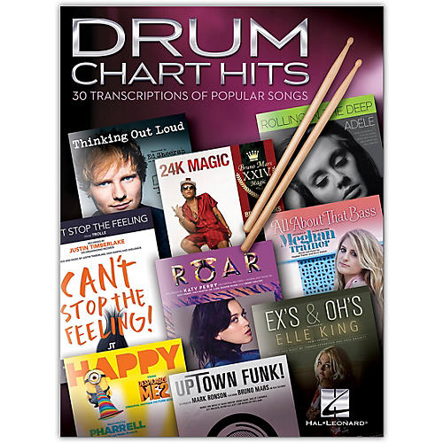 Hal Leonard Drum Chart Hits - 30 Transcriptions of Popular Songs thumbnail