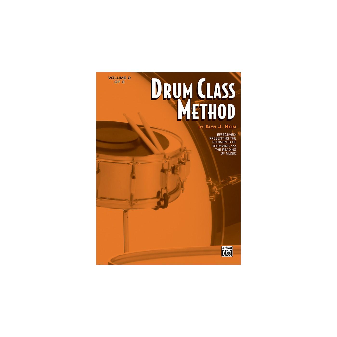 Alfred Drum Class Method Volume 2 Book thumbnail