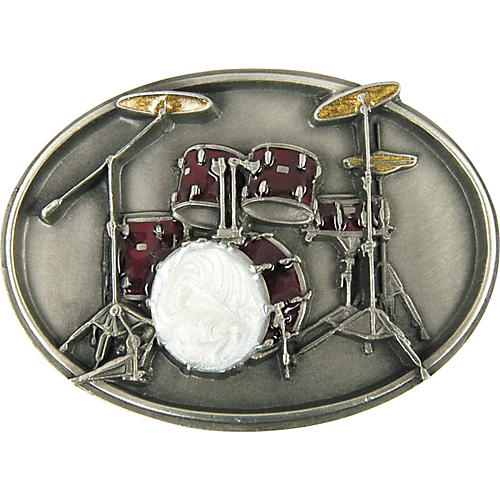 Gear One Drum Set Belt Buckle thumbnail