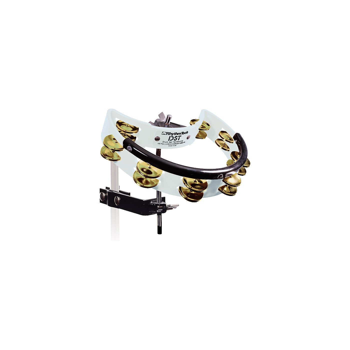 Rhythm Tech Drum Set Tambourine with Brass Jingles thumbnail