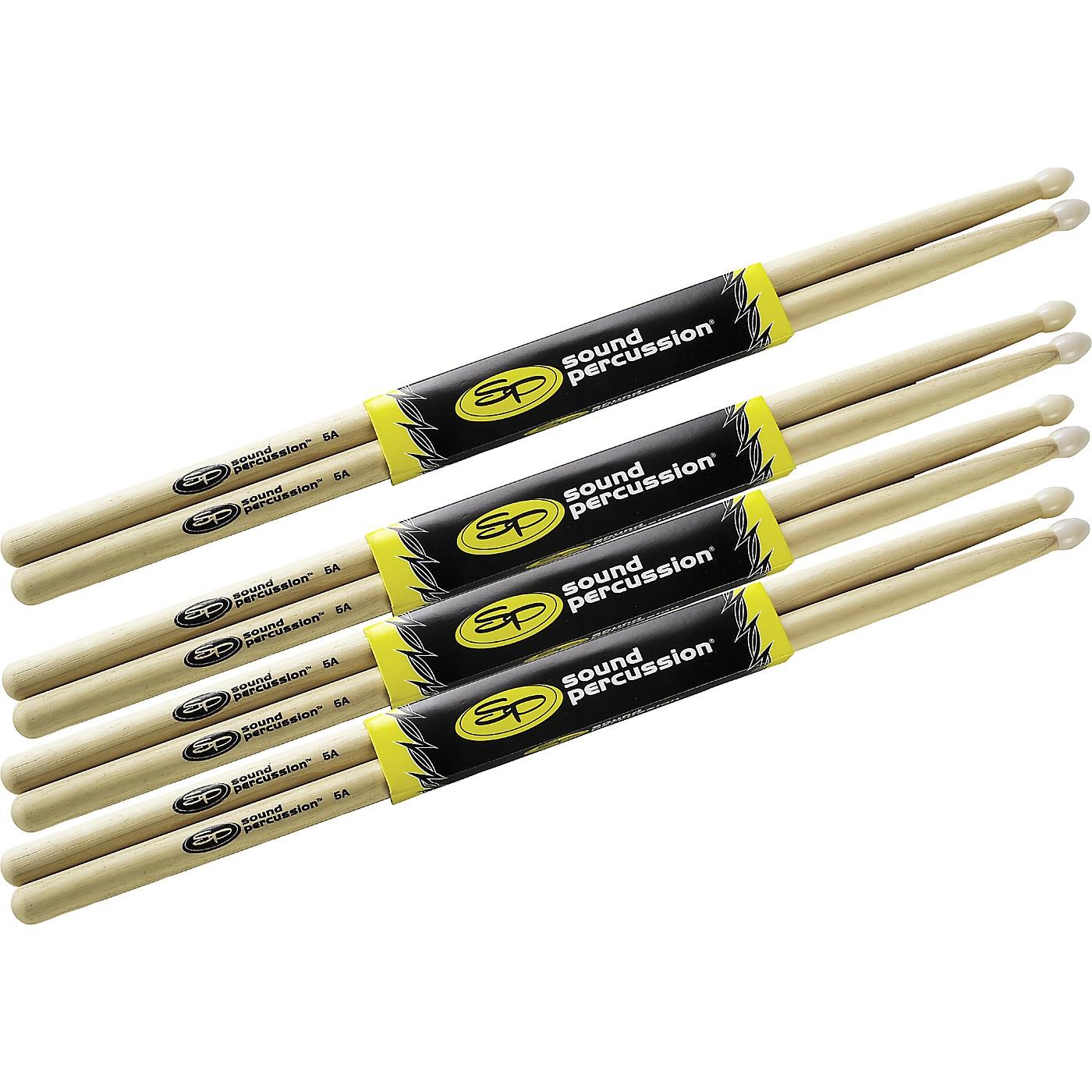Sound Percussion Labs Drum Sticks Buy 3, Get 1 Free, 5A Nylon Tip thumbnail