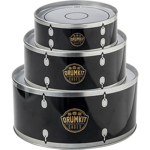 SK Drumkit Storage Tin Cases - Black thumbnail