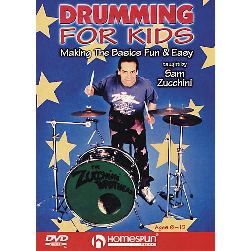Homespun Drumming For Kids - Making the Basics Easy (DVD)-thumbnail