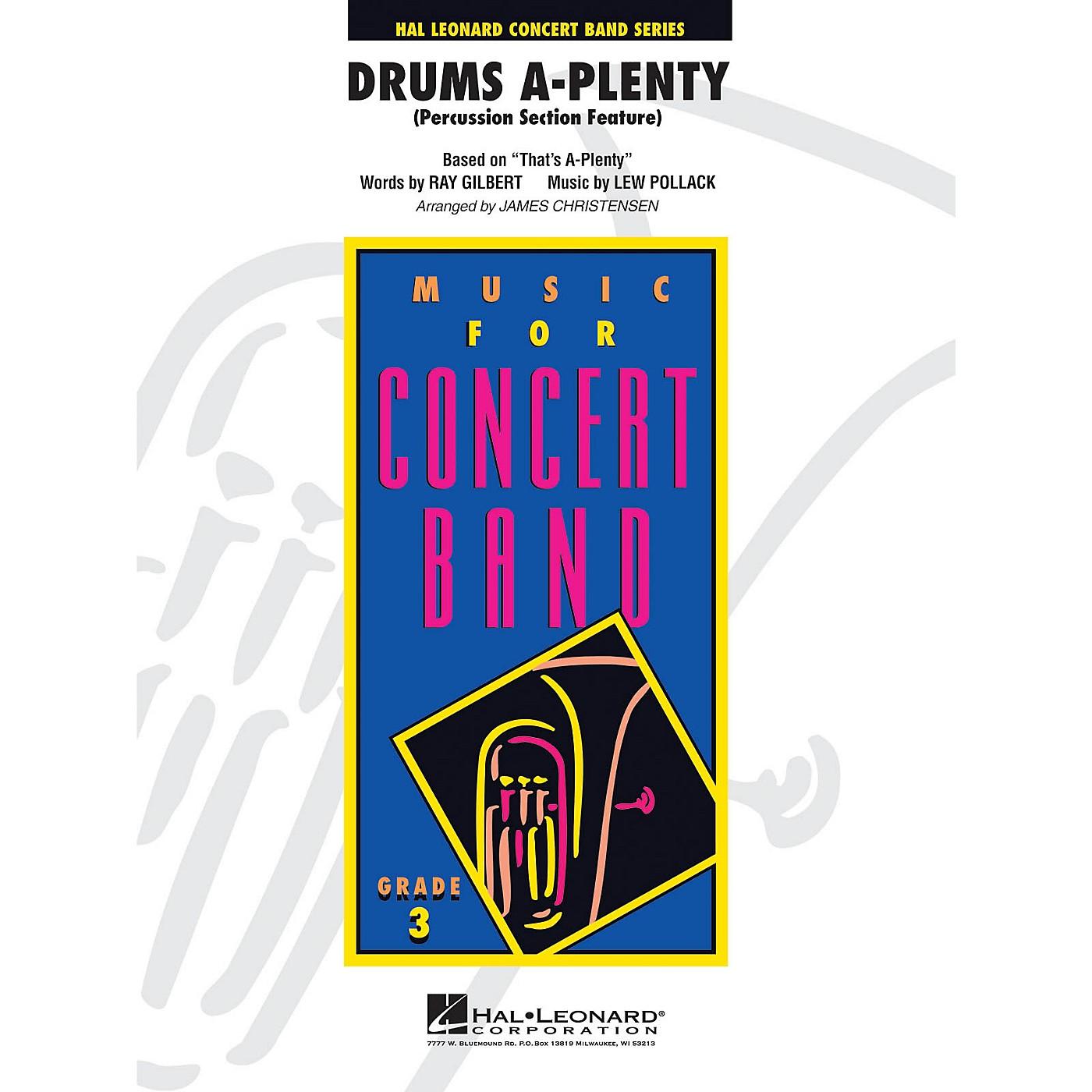 Hal Leonard Drums A Plenty - Young Concert Band Level 3 by James Christensen thumbnail