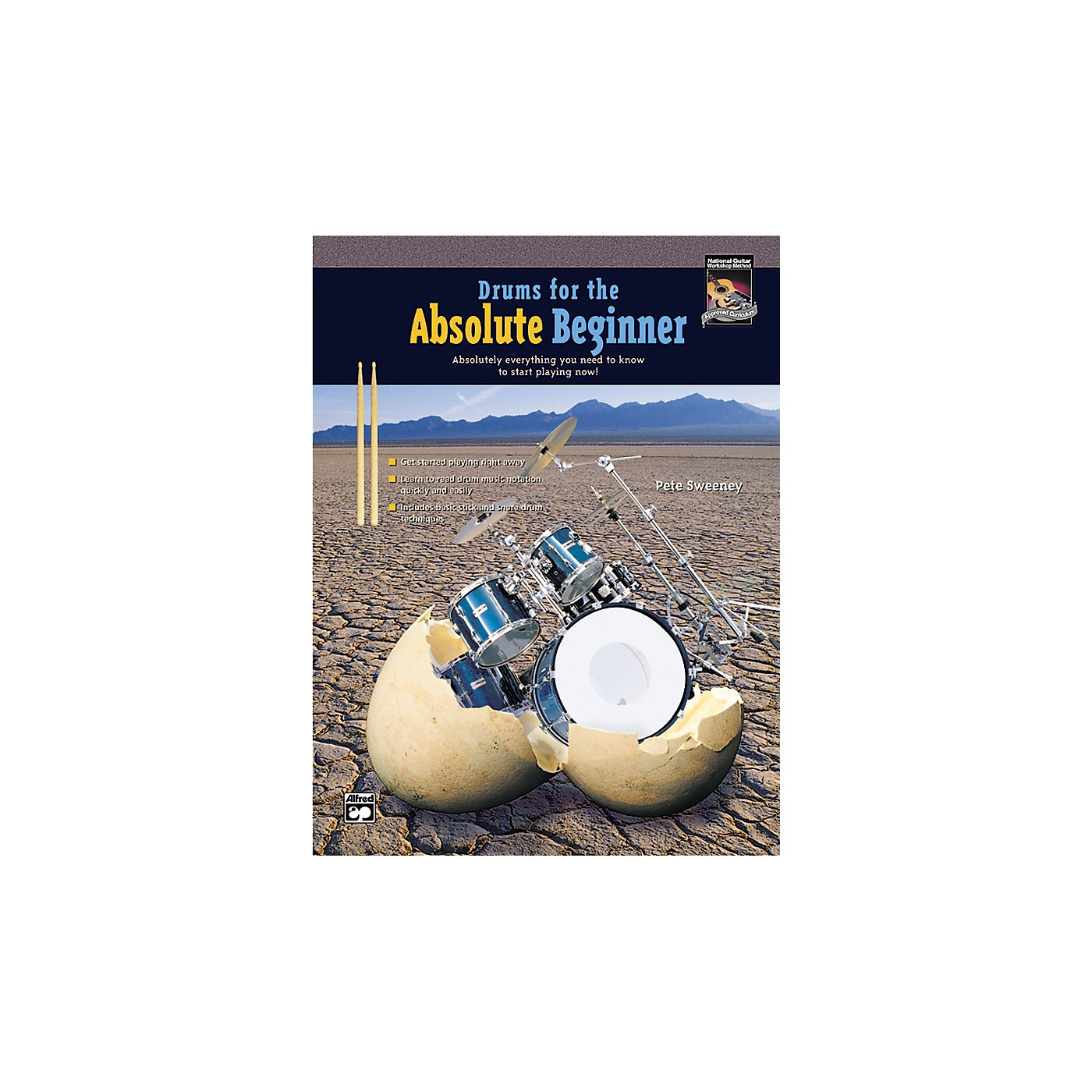 Alfred Drums for the Absolute Beginner (Book/CD) thumbnail