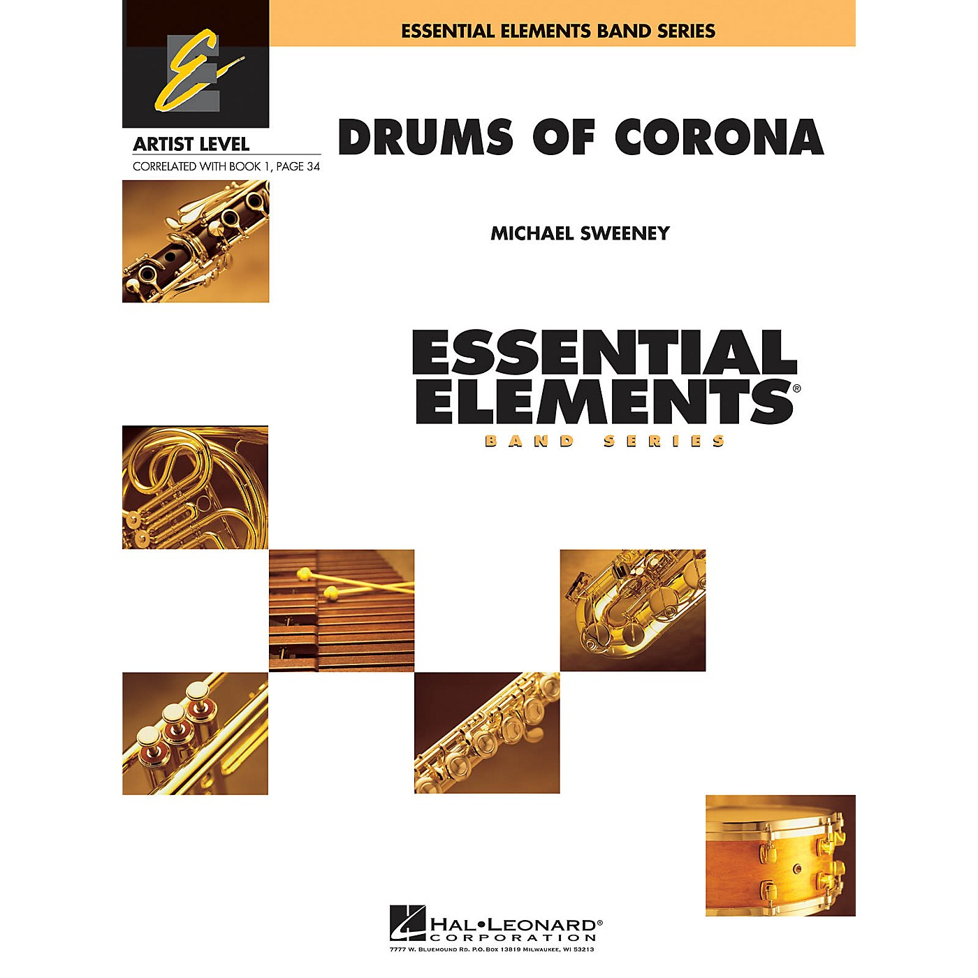 Hal Leonard Drums of Corona Concert Band Level 1 Composed by Michael Sweeney thumbnail